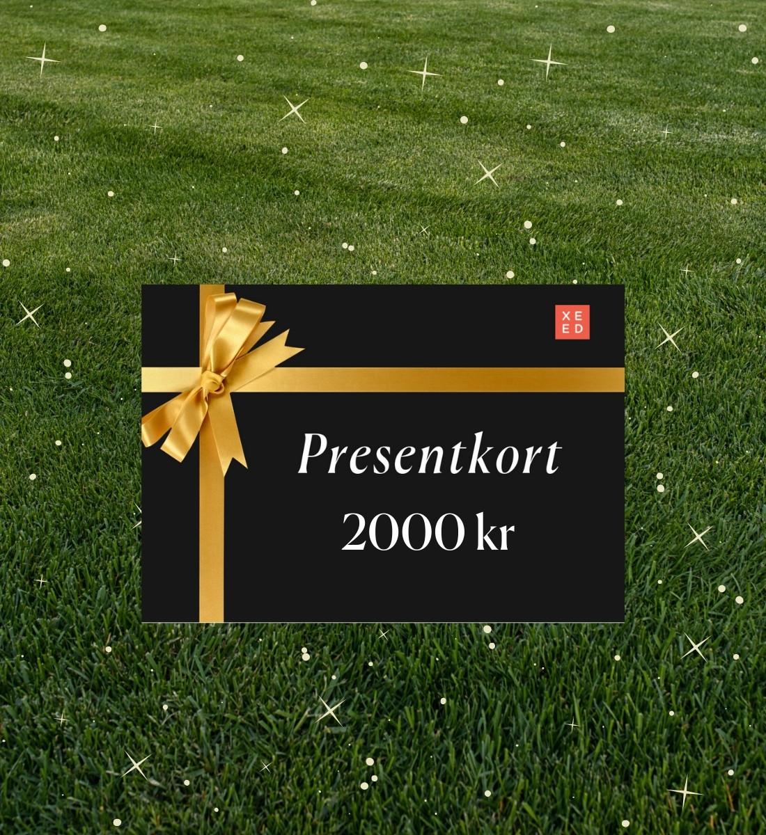 Presentkort 2000 kr på Xeed