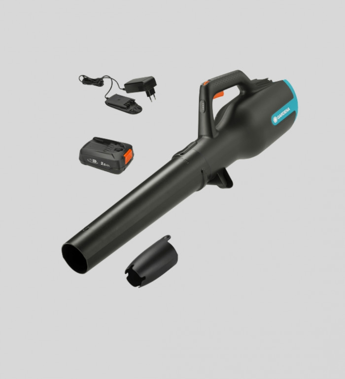 Lövblåsare PowerJet Koplett set med batteri och laddare